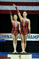 12-18 Women's pair medalists