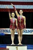 12-18 Women's pair medalists