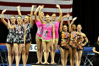 Women's Group balance medalists
