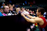 Jake Dalton signs autographs after the competition