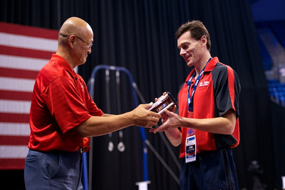 Alex Belanovski was awarded as the junior men's coach of the year.