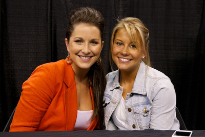Carly Patterson and Shawn Johnson