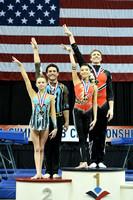 Mixed pair balance medalists