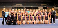 The 36 competitors with Nastia Liukin and Martha Karolyi