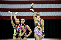 13-19 Women's pair medalists