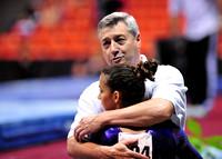 Alexandra Raisman with her coach
