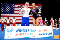 Oleg Verniaiev and Jessica Lopez were the World Cup Series winners.