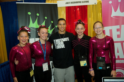 Jake Dalton poses with some fans
