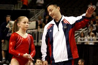 Shawn Johnson with her coach