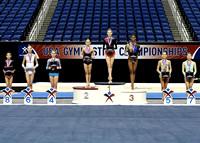 Junior all-around podium