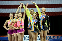 13-19 Women's group medalists