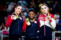 2016 Olympic all-around medalists