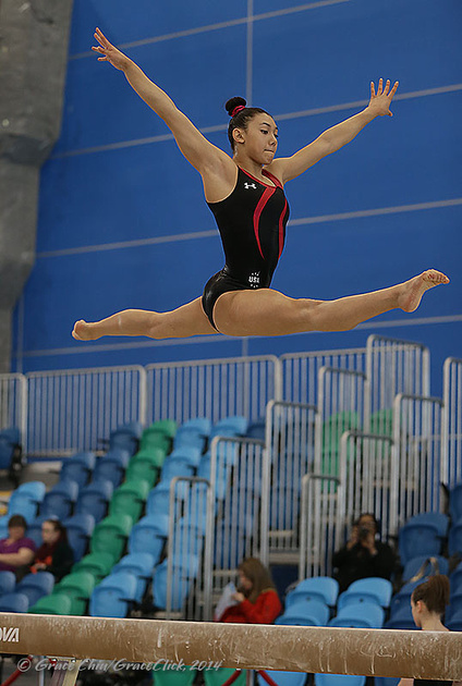 Kyla Ross Wins Beam Gymnastics Coaching Com
